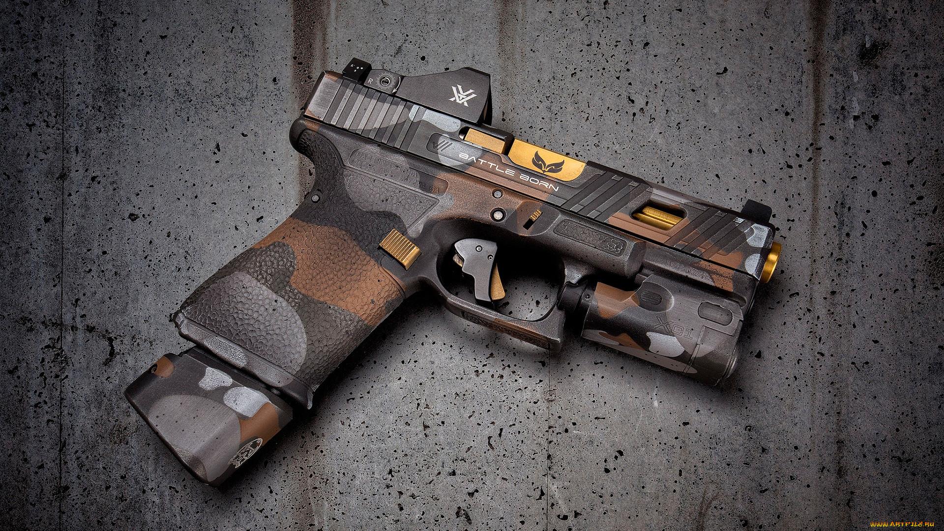 оружие, пистолеты, glock